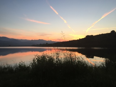 Abendstimmung am Lac de Padula